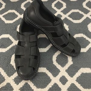 Rockport Black Leather Dress Sandal